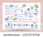 cute colorful kids meal menu... | Shutterstock .eps vector #1537271918