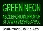 neon high green font on dark... | Shutterstock .eps vector #1537279592