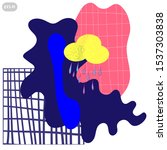 geometric pattern design.... | Shutterstock .eps vector #1537303838