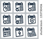 vector isolated calendar icons... | Shutterstock .eps vector #153730436