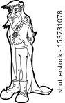 cartoon evil magician | Shutterstock .eps vector #153731078