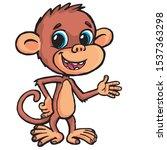 little monkey telling the... | Shutterstock .eps vector #1537363298