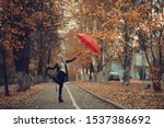 Girl With A Red Umbrella ...