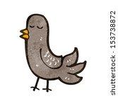 retro cartoon bird | Shutterstock . vector #153738872