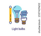 light bulbs recyclable color...