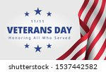 happy and free veterans day... | Shutterstock .eps vector #1537442582