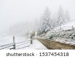 A Frosty Rural Footpath With A...