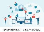 business technology cloud... | Shutterstock .eps vector #1537460402