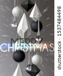 christmas background with... | Shutterstock .eps vector #1537484498