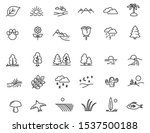 set of linear nature icons.... | Shutterstock .eps vector #1537500188