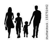 silhouette of parents and... | Shutterstock .eps vector #153751442