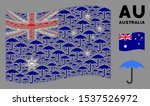 Waving Australia Flag. Vector...