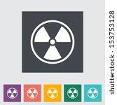 radioactivity. single flat icon.   Shutterstock . vector #153753128