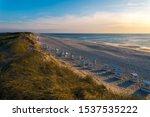 Sand Dunes With Beach And Beach ...