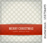 merry christmas card and... | Shutterstock .eps vector #153756695
