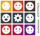 9 icon set of universal  for... | Shutterstock . vector #1537579625