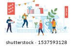 christmas sale  winter seasonal ... | Shutterstock .eps vector #1537593128