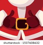 christmas card of santa claus... | Shutterstock .eps vector #1537608632