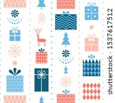 seamless christmas pattern with ... | Shutterstock .eps vector #1537617512