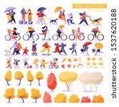 huge set with people  children  ... | Shutterstock .eps vector #1537620188
