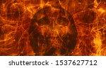 Skull Hell Flames Digital...