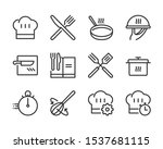 cooking bold line icon set. the ... | Shutterstock .eps vector #1537681115