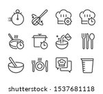 cooking bold line icon set. the ... | Shutterstock .eps vector #1537681118