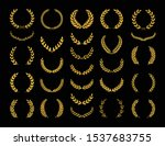 set of different golden... | Shutterstock .eps vector #1537683755