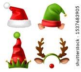 Christmas Holiday Hats. Santa...