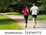 rear view of caucasian female...   Shutterstock . vector #153769772