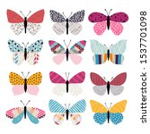 set of illustrations... | Shutterstock .eps vector #1537701098