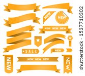 set of ribbons and labels....   Shutterstock .eps vector #1537710302