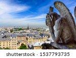 Gargoyle On Notre Dame De Paris ...