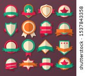 vector set badge  ribbons and... | Shutterstock .eps vector #1537843358