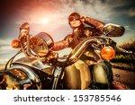 Biker Girl In A Leather Jacket...
