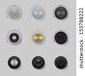 sound dials set vector | Shutterstock .eps vector #153788222