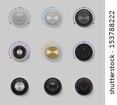 sound dials set vector   Shutterstock .eps vector #153788222