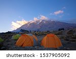Pitched Tents Camping At The...