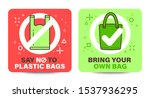 """plastic bag signage with """"say...   Shutterstock .eps vector #1537936295"""