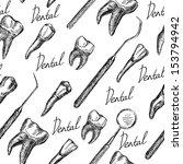 Anatomy Teeth Isolated Seamless ...