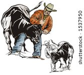 Illustration Of A Rodeo...