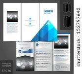 structural white brochure... | Shutterstock .eps vector #153797642