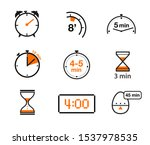time and clock icons. vector... | Shutterstock .eps vector #1537978535