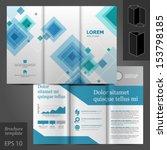 vector gray brochure template... | Shutterstock .eps vector #153798185