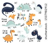 set of cute dinosauts for... | Shutterstock .eps vector #1537982912