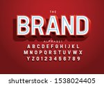 vector of stylized modern font... | Shutterstock .eps vector #1538024405