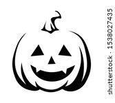 vector black silhouette of jack ... | Shutterstock .eps vector #1538027435