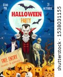 halloween vampire  bats and...   Shutterstock .eps vector #1538031155
