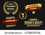 high quality golden badge | Shutterstock .eps vector #153803936