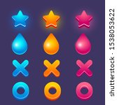 vector colorful game icons ...